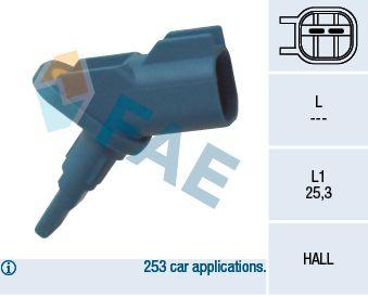 FAE 78011 | Датчик ABS Fr FO C-Max,Fo II,Mn'07 <+ESP> | Купить в интернет-магазине Макс-Плюс: Автозапчасти в наличии и под заказ