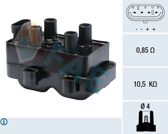 FAE 80222 | Катушка зажигания | Купить в интернет-магазине Макс-Плюс: Автозапчасти в наличии и под заказ