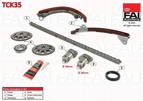 FAI AUTOPARTS TCK35 | Комплект цепи привода распредвала | Купить в интернет-магазине Макс-Плюс: Автозапчасти в наличии и под заказ