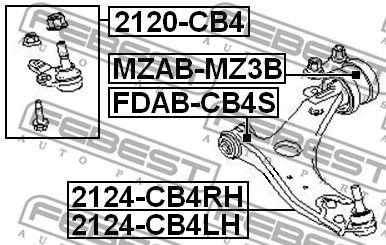 FEBEST 2120CB4 | опора шаровая!\ Ford Focus C-Max all 04-07/Focus all 04>, Volvo S40/V50 04> | Купить в интернет-магазине Макс-Плюс: Автозапчасти в наличии и под заказ