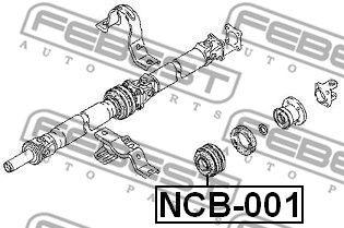 FEBEST NCB001 | опора кардана подвесная!\ Nissan Qashqai UK MAKE J10F -2006 | Купить в интернет-магазине Макс-Плюс: Автозапчасти в наличии и под заказ