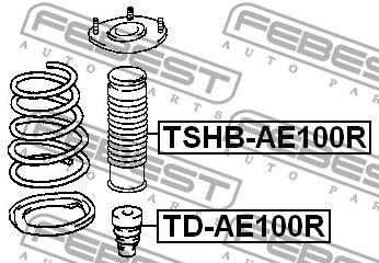 FEBEST TSHBAE100R | Пыльник амортизатора | зад прав/лев | | Купить в интернет-магазине Макс-Плюс: Автозапчасти в наличии и под заказ