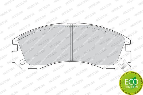 FERODO FDB765 | Колодки тормозные, передние | Купить в интернет-магазине Макс-Плюс: Автозапчасти в наличии и под заказ