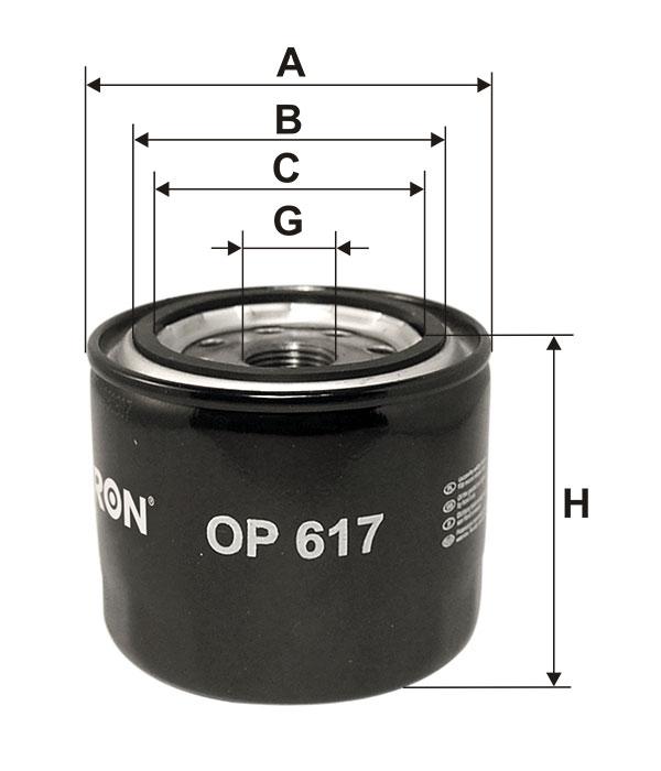 FILTRON OP617 | Фильтр масляный MITSUBISHI | Купить в интернет-магазине Макс-Плюс: Автозапчасти в наличии и под заказ