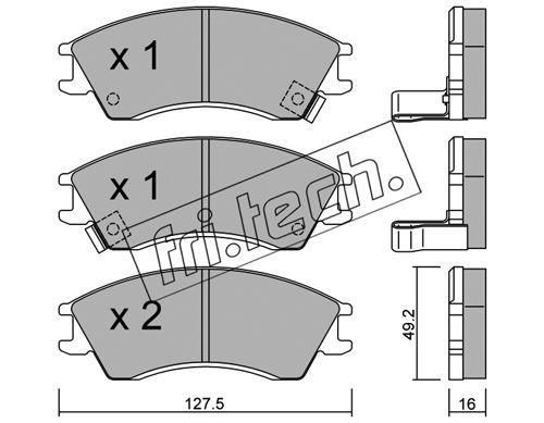 FRI.TECH. 1630 | Колодки тормозные дисковые передние SUBARU JUSTY 163.0 | Купить в интернет-магазине Макс-Плюс: Автозапчасти в наличии и под заказ