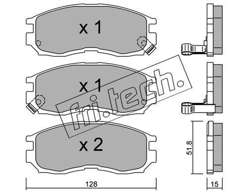 FRI.TECH. 2330 | Колодки тормозные дисковые передние Mitsubishi Galant 90- 233.0 | Купить в интернет-магазине Макс-Плюс: Автозапчасти в наличии и под заказ