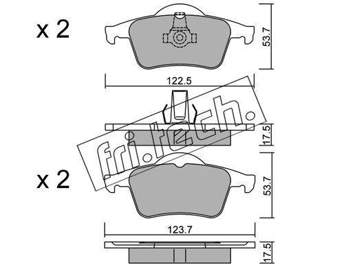 FRI.TECH. 3570 | Колодки тормозные дисковые задние VOLVO S80 99- 357.0 | Купить в интернет-магазине Макс-Плюс: Автозапчасти в наличии и под заказ
