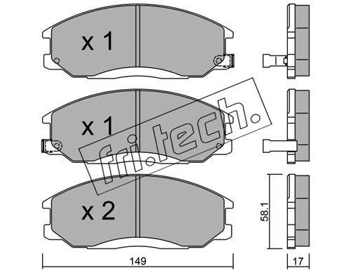 FRI.TECH. 3730 | Колодки тормозные дисковые передние | Купить в интернет-магазине Макс-Плюс: Автозапчасти в наличии и под заказ