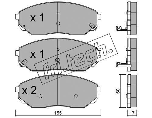 FRI.TECH. 5310 | Колодки тормозные дисковые передние  SORENTO 531.0 | Купить в интернет-магазине Макс-Плюс: Автозапчасти в наличии и под заказ