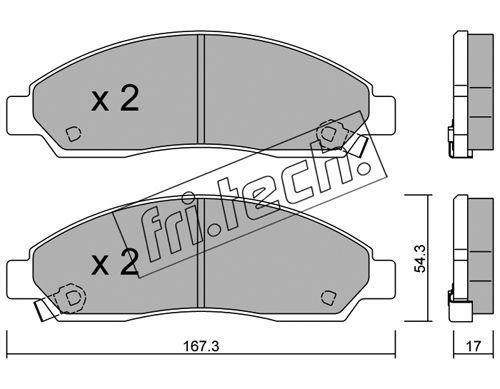 FRI.TECH. 7470 | Колодки тормозные дисковые isuzu | Купить в интернет-магазине Макс-Плюс: Автозапчасти в наличии и под заказ