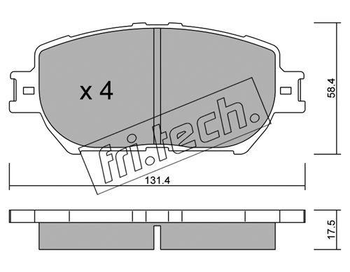 FRI.TECH. 7670 | Колодки тормозные дисковые TOYOTA 767.0 | Купить в интернет-магазине Макс-Плюс: Автозапчасти в наличии и под заказ