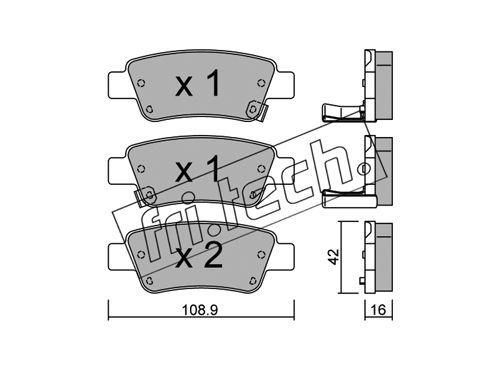 FRI.TECH. 8060 | колодки дисковые FriTech | Купить в интернет-магазине Макс-Плюс: Автозапчасти в наличии и под заказ