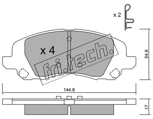 FRI.TECH. 8780 | Колодки тормозные дисковые 878.0 | Купить в интернет-магазине Макс-Плюс: Автозапчасти в наличии и под заказ