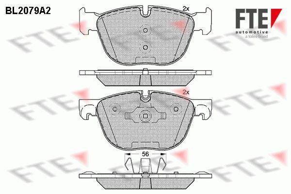 FTE BL2079A2 | Колодки тормозные передние BMW Х5 II(Е70 E70N) Х6 | Купить в интернет-магазине Макс-Плюс: Автозапчасти в наличии и под заказ