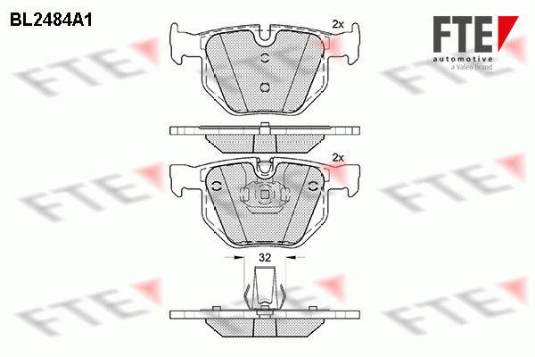 FTE BL2484A1 | Колодки тормозные задние BMW E65 | Купить в интернет-магазине Макс-Плюс: Автозапчасти в наличии и под заказ