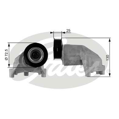 GATES T38272 | Ролик натяжной приводного ремня | Купить в интернет-магазине Макс-Плюс: Автозапчасти в наличии и под заказ
