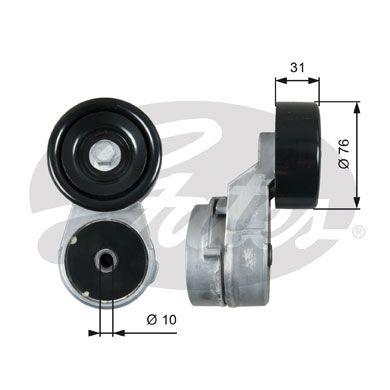 GATES T39210 | Ролик натяжной приводного ремня | Купить в интернет-магазине Макс-Плюс: Автозапчасти в наличии и под заказ