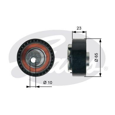 GATES T43228 | Натяжитель ремня ГРМ T43228 (7784-21165) | Купить в интернет-магазине Макс-Плюс: Автозапчасти в наличии и под заказ