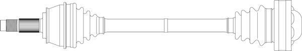 GENERAL RICAMBI FI3317   Приводной вал   Купить в интернет-магазине Макс-Плюс: Автозапчасти в наличии и под заказ