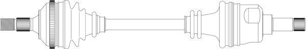 GENERAL RICAMBI PE3175   ВАЛ ПРИВОДНОЙ ПЕР L PEUGEOT 4061.6 10.95-03.99   Купить в интернет-магазине Макс-Плюс: Автозапчасти в наличии и под заказ