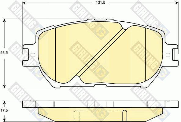GIRLING 6133149 | Колодки тормозные TOYOTA CAMRY (_V30_) 2.4/3.0 01>04 передние | Купить в интернет-магазине Макс-Плюс: Автозапчасти в наличии и под заказ
