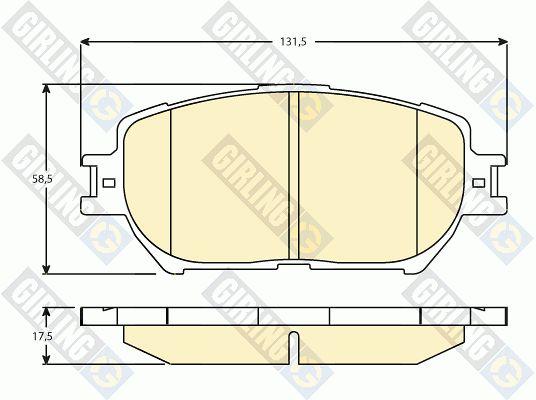 GIRLING 6136286 | Колодки тормозные TOYOTA CAMRY (_V30_) 2.4/3.0 01>04 передние | Купить в интернет-магазине Макс-Плюс: Автозапчасти в наличии и под заказ
