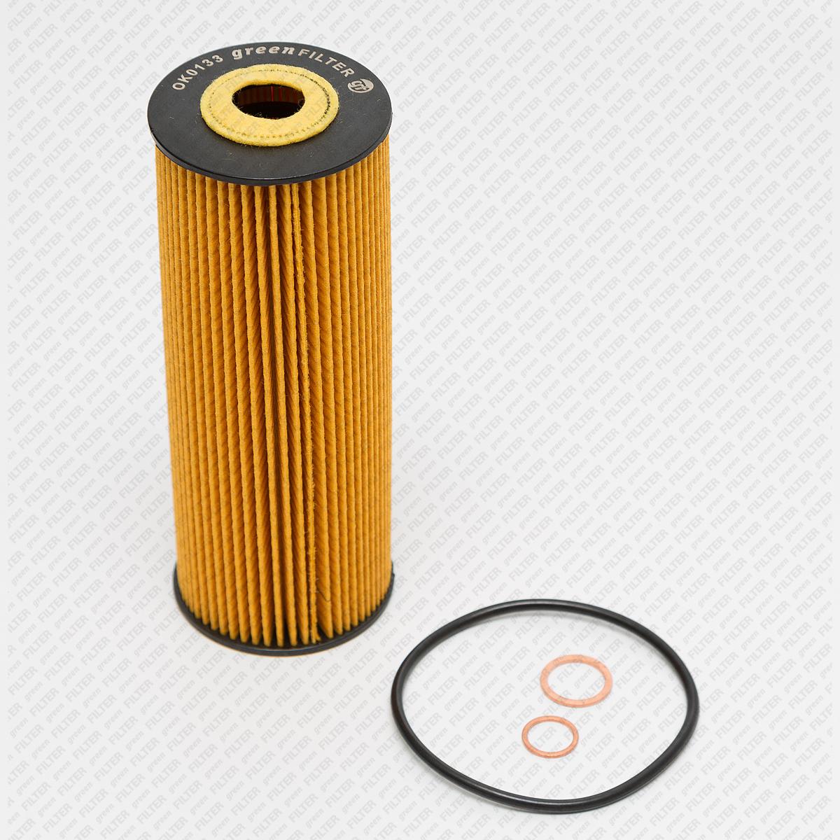 GREEN FILTER OK0133   Фильтр масляный MB W202/W210/S124 -02   Купить в интернет-магазине Макс-Плюс: Автозапчасти в наличии и под заказ