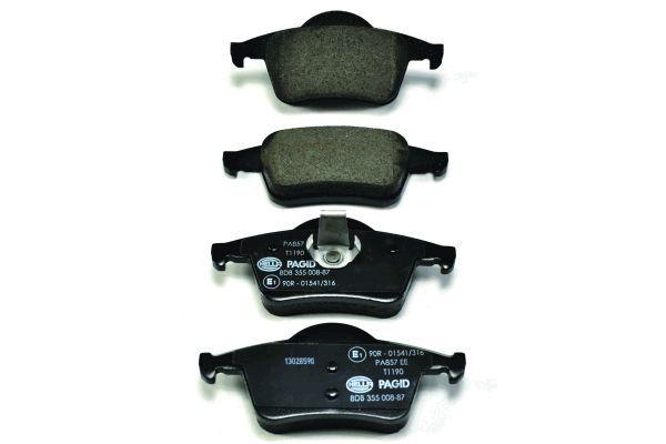HELLA 8DB355008871 | Тормозные колодки дисковые | Купить в интернет-магазине Макс-Плюс: Автозапчасти в наличии и под заказ