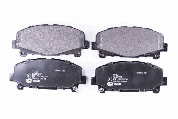 HELLA 8DB355013881 | Колодки тормозные передние к-кт | Купить в интернет-магазине Макс-Плюс: Автозапчасти в наличии и под заказ