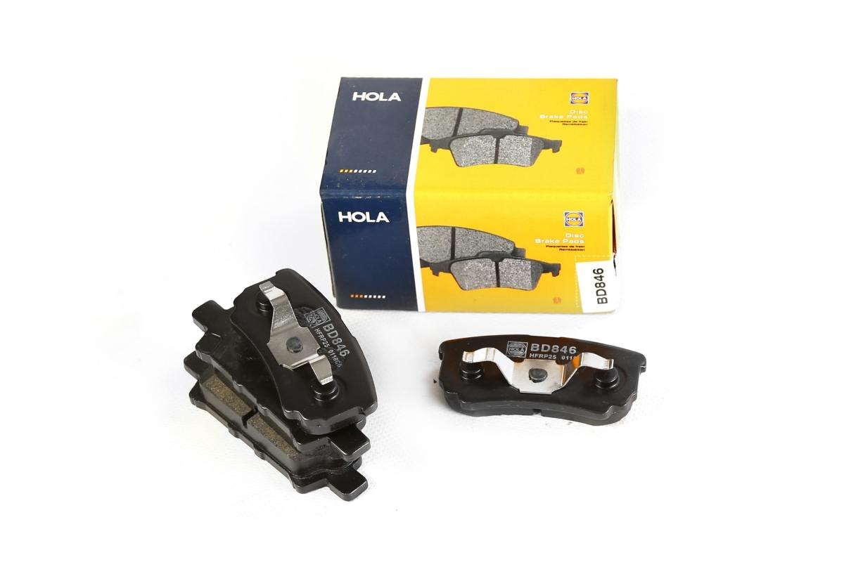 HOLA BD846 | Колодка тормозная задняя для а/м MITSUBISHI Lancer IX/X HOLA | Купить в интернет-магазине Макс-Плюс: Автозапчасти в наличии и под заказ