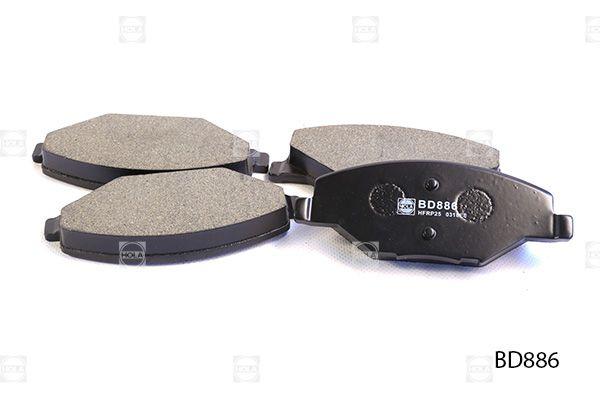 HOLA BD886   Тормозные колодки, дисковые, передние, VW Polo sedan, Polo (6R1, 6C1), SKODA Fabia II/III, Rapid (NH   Купить в интернет-магазине Макс-Плюс: Автозапчасти в наличии и под заказ