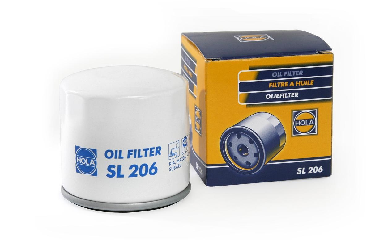 HOLA SL206 | Фильтр масляный Mazda 3 1.4, 1.6l / Hyundai Getz 1.0, 1.6, 1.3, 1.6l / Kia Spectra | Купить в интернет-магазине Макс-Плюс: Автозапчасти в наличии и под заказ