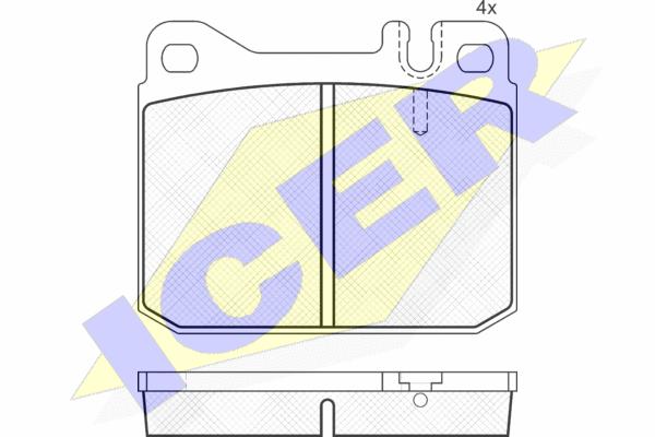 ICER 180197 | 180197 колодки дисковые передние!\ MB W123 2.0-3.0D/TD 76-79 | Купить в интернет-магазине Макс-Плюс: Автозапчасти в наличии и под заказ