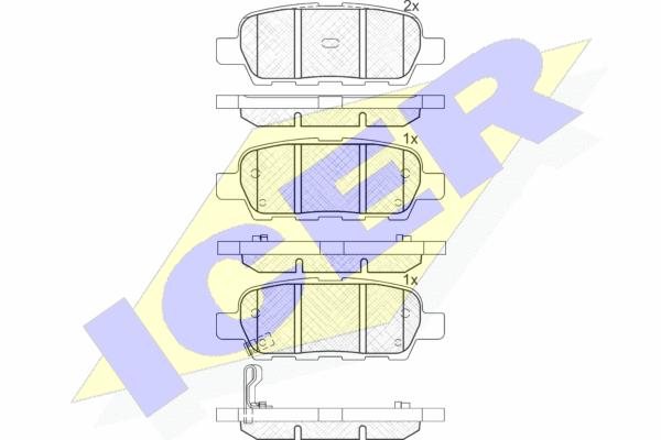 ICER 181509 | 181509 колодки дисковые задние !\ Nissan X-Trail 2.0i/2.5i/2.2dCi/Skyline V35 01> | Купить в интернет-магазине Макс-Плюс: Автозапчасти в наличии и под заказ