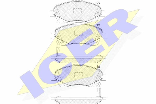 ICER 181573 | 181573 колодки дисковые передние!\ Toyota Avensis 1.6i-2.4D4-D 03> | Купить в интернет-магазине Макс-Плюс: Автозапчасти в наличии и под заказ