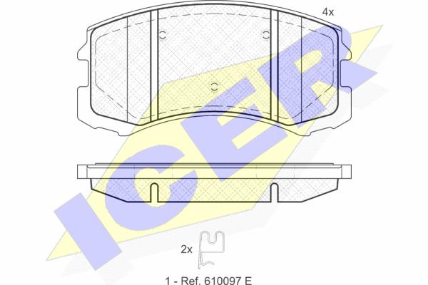 ICER 181618 | колодки торм.пер. Mitsubishi Lancer RHD 00-07 | Купить в интернет-магазине Макс-Плюс: Автозапчасти в наличии и под заказ