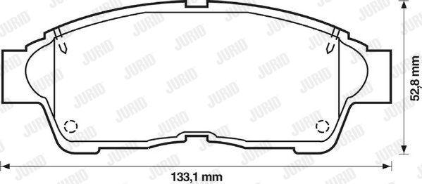 JURID 572333J | Тормозные колодки | Купить в интернет-магазине Макс-Плюс: Автозапчасти в наличии и под заказ