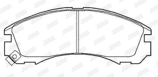 JURID 572447J | Колодки торм. пер. | Купить в интернет-магазине Макс-Плюс: Автозапчасти в наличии и под заказ