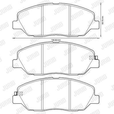 JURID 572607J | Колодки тормозные | Купить в интернет-магазине Макс-Плюс: Автозапчасти в наличии и под заказ