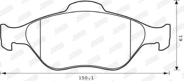 JURID 573041J | Колодки тормозные дисковые 4 шт. передние | Купить в интернет-магазине Макс-Плюс: Автозапчасти в наличии и под заказ
