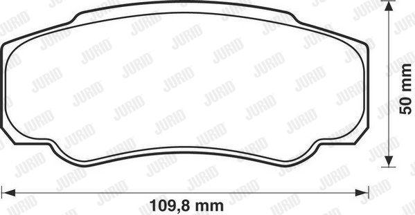 JURID 573115J | Колодки торм. зад. | Купить в интернет-магазине Макс-Плюс: Автозапчасти в наличии и под заказ