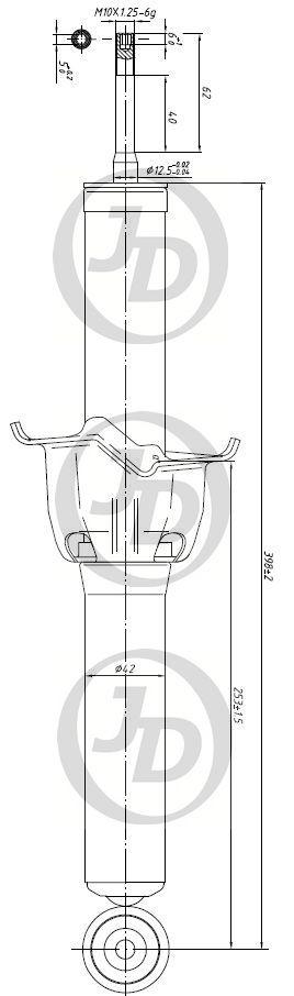 JUST DRIVE JAA0089 | Амортизатор газомасляный задний /341261/ | Купить в интернет-магазине Макс-Плюс: Автозапчасти в наличии и под заказ
