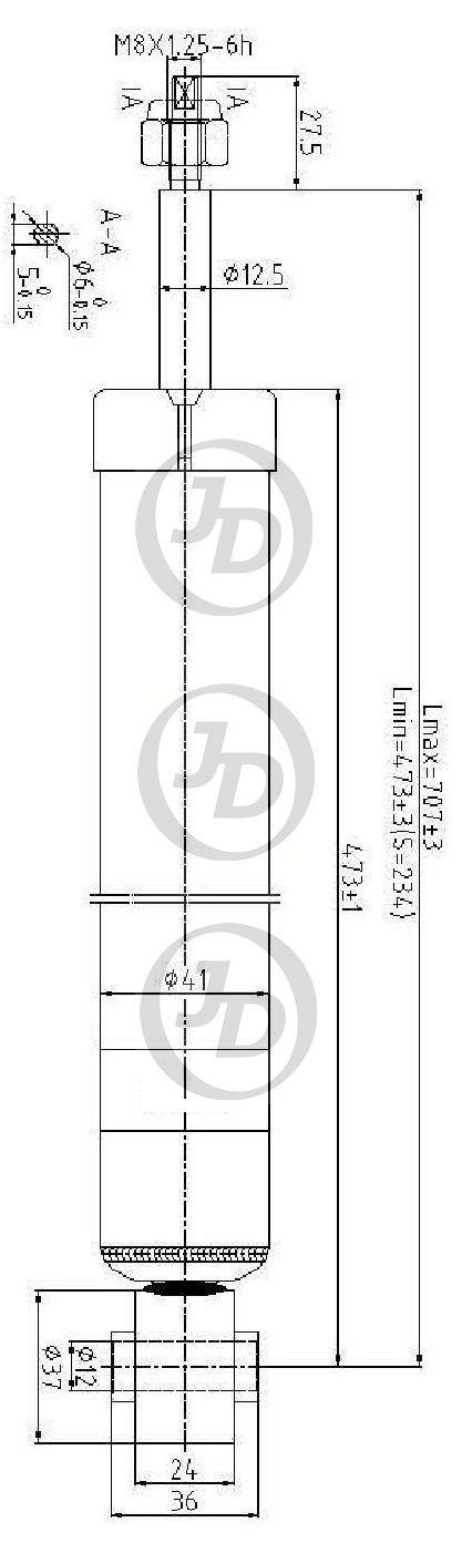 JUST DRIVE JAA0244 | Амортизатор задний (Ford Focus II Sedan/HB 04>) | Купить в интернет-магазине Макс-Плюс: Автозапчасти в наличии и под заказ