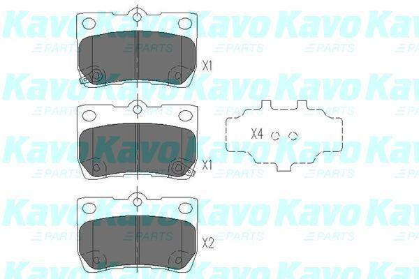 KAVO PARTS KBP9083 | К-т торм. колодок Re Lexus GS -11, IS C 09-, IS II | Купить в интернет-магазине Макс-Плюс: Автозапчасти в наличии и под заказ