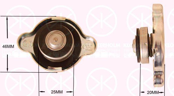 KLOKKERHOLM 8112309999 | Крышка радиатора D/d=46/25mm h=20mm Corolla Avensis -2003 | Купить в интернет-магазине Макс-Плюс: Автозапчасти в наличии и под заказ