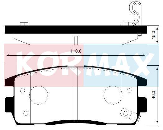 KORMAX KBP042 | Колодки тормозные, задние (с антискрипной пластиной) D9063M | Купить в интернет-магазине Макс-Плюс: Автозапчасти в наличии и под заказ