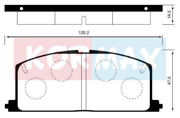 KORMAX KBP053 | Колодки тормозные, передние D2023 | Купить в интернет-магазине Макс-Плюс: Автозапчасти в наличии и под заказ