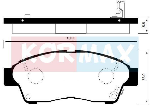 KORMAX KBP057 | Колодки тормозные, передние (с антискрипной пластиной) D2118M | Купить в интернет-магазине Макс-Плюс: Автозапчасти в наличии и под заказ