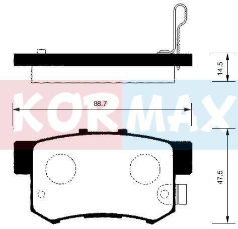 KORMAX KBP065 | Колодки тормозные, задние (с антискрипной пластиной) D5056M | Купить в интернет-магазине Макс-Плюс: Автозапчасти в наличии и под заказ