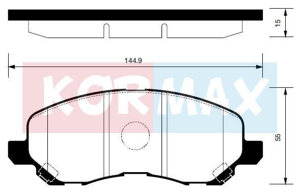 KORMAX KBP067 | Колодки тормозные, передние D6108 | Купить в интернет-магазине Макс-Плюс: Автозапчасти в наличии и под заказ